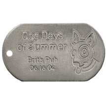 Debossed Military Style Dog Tags