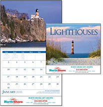Scenic Calendars, Lighthouses - 12 Month