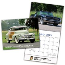 Car Wall Calendars, Cars of Yesteryear - 12 Month