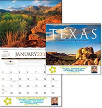 State Calendars, Texas - 12 Month