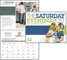 "The Saturday Evening Post  (Norman Rockwell) 11"" Every Month Imprint"