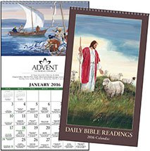 Religious Calendars, Daily Bible Readings (Protestant) - 6 Sheet