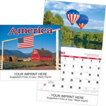 Patriotic Wall Calendars, America, 13 Month