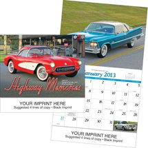 Classic Car Calendars, Highway Memories, 13 Month