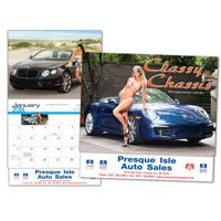 Car Calendars, Classy Chassis, 13 Month
