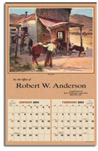 Art Calendars, Great Western Artists, Executive - 6 Sheet