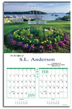 Scenic Calendars, New England,  Executive - 6 Sheet