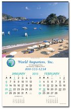 Scenic Calendars, World Traveler, Executive - 6 Sheet, Union Made