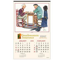 Norman Rockwell Calendars, Executive - 6 Sheet, Union Made