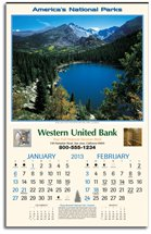 Scenic Calendars, America's National Parks, Executive - 6 Sheet, Union Made