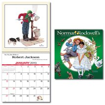 Norman Rockwell Calendars, Executive - 12 Month, 60% Recycled
