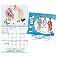 Wall Calendars, Norman Rockwell Americana - 12 Month, Union Made