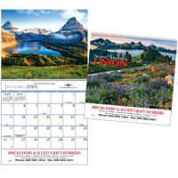 Wall Calendars, Scenic America, - 12 Month, Union Made