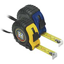Tape Measures, Rubber and Plastic, 16 Foot