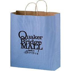 "Paper Shopping Bags, Light Colored Matte, Ink Imprint, 16"" x 19-1/4"""