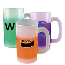Plastic Beer Steins, BPA Free, Mood 14 oz.
