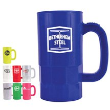 14 oz. Plastic Beer Steins (Classic & Neon Colors)