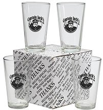 Thank You Set of 4 16oz. Mixing Glasses