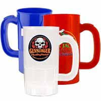 Plastic Beer Steins, BPA Free, Full Color Process 14 oz.