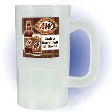 14 oz. Full Color Process Nite-Glow Plastic Beer Steins