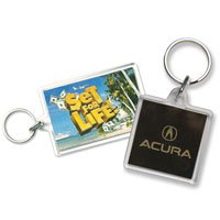Acrylic Key Tags, Square & Rectangular Shaped