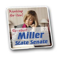Full Color Political Magnetic Car Signs, 12 x 12 Square