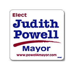 Political Magnetic Car Signs, 12 x 12 Square
