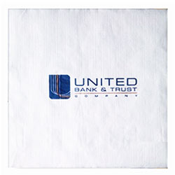 Recycled Luncheon Napkins, High Quantity, White 1-Ply, Semi Crepe