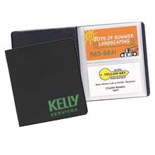 Recycled Vinyl Business Card Files, Holds 56 Cards