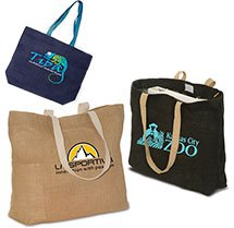 17-3/4 x 13-3/4 Natural Jute Reusable Shopping Bags