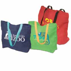 Reusable Shopping Bags, Natural Jute Fibers, 17-3/4  x 13-3/4