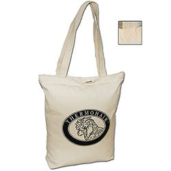 "14"" x 16"" Certified Organic Cotton Zipper Totes"