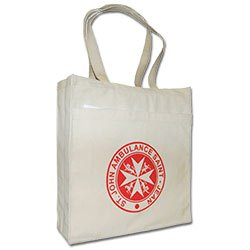 Organic Cotton Bags, 100% Certified Eco Shopper, 14 x 15