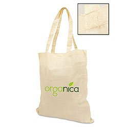 Organic Cotton Bags, 100% Certified  Eco Bag, 15 x 16.5