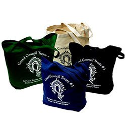 Biodegradable Cotton Bags, Super Tote, 18 x 16