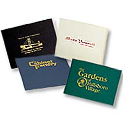 "Flat Portfolios with Locking Flap, Foil Stamped, Legal Size 13"" x 15"""