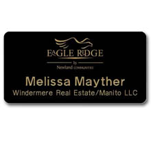 "Deluxe Name Badges, 1-1/2"" x 3"""
