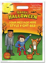 Halloween Bags, Full Color Trick-or-Treater Stock Design, 11 x 15