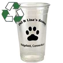 100 Custom Compostable Plastic Cups, 20 oz.