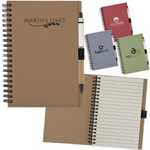 Recycled Notebooks, with Matching Paper Pen
