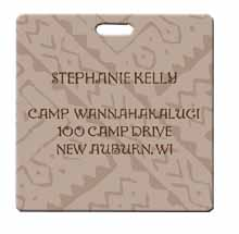 "Personalized Luggage Tags, Full Color, 3"" x 3"""