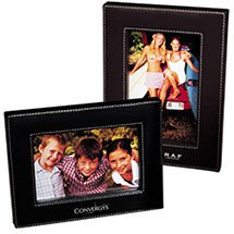 "4"" x 6"" Madison Leather Photo Frames by LEEMAN"