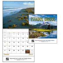 Spanish Language Calendars, Landscapes of America - 13 month