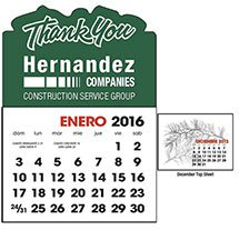 Spanish Language Calendars, Stick-up Shapes - 13 Month