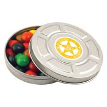 Candy Tins, Movie Reel Tin, 2 oz. Candy Fills