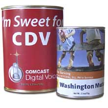 Cocoa Tins, Full Color Label, Two Sizes
