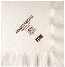 Recycled Beverage Napkins, Vanilla 2-Ply