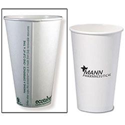 Compostable Paper Cups, Hot 16 oz.