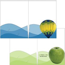 "Rolling Hills Pocket Presentation Folders, 9"" x 12"""