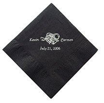 Wedding Luncheon Napkins, Black Velvet 2-Ply